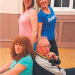 Sue George (Shirley Weston), Ed Parrott (Don Weston) with Denise Weston (Zoe) and Alison Trombley (Chloe).